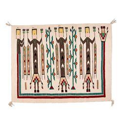 "Navajo Weaving, 4'1"" x 3'2"""