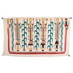 "Navajo Weaving, 5'9"" x 3'4"""