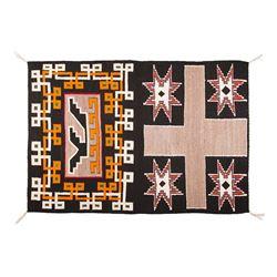 "Navajo Double Saddle Blanket, 4'3"" x 3'1"""