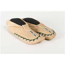 """Apache Beaded Child's Moccasins, 8"""" long"""