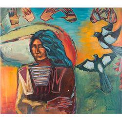 Darren Vigil Gray, acrylic on canvas