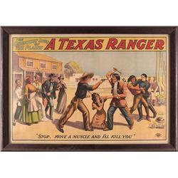 """A Texas Ranger Movie Poster, 28"""" x 41"""""""