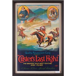"""Custer's Last Fight Movie Poster, 40"""" x 26 ½"""""""
