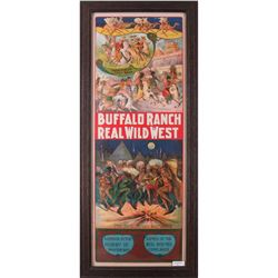"""Buffalo Ranch Real Wild West Movie Poster, 56"""" x 21"""""""