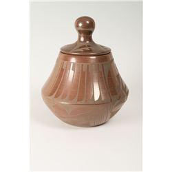 San Ildefonso Pueblo Lidded Jar by Carlos Dunlap