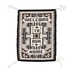 "Navajo Weaving and Seri Basket, 1' 7 ¼"" x 1' 3"""