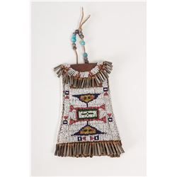 "Sioux Beaded Strike-A-Lite Bag, 5 ½"" long"