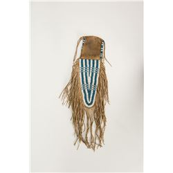"Sioux Beaded Belt Pouch, 10"" long"
