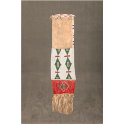 """Sioux Beaded and Quilled Pipe Bag,  22"""" long"""