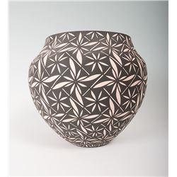 """Acoma Pueblo Jar by C. Garcia, 9"""" x 10"""""""