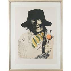 Leonard Baskin, lithograph