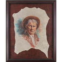 Robert Byrne, pastel on leather