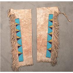 "Sioux Beaded Leggings, 33"" long"
