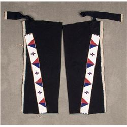 "Cheyenne Beaded Man's Leggings, 27"" x 3"""