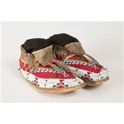 """Sioux Beaded Man's Moccasins, 11"""" long"""
