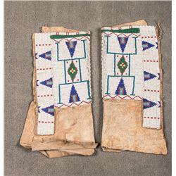 "Sioux Beaded Woman's Leggings, 15"" x 13"""