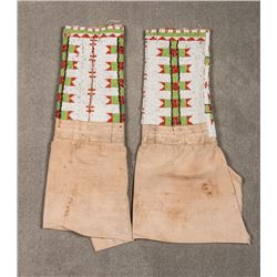"Sioux Beaded Woman's Leggings, 20 ½"" x 14"""