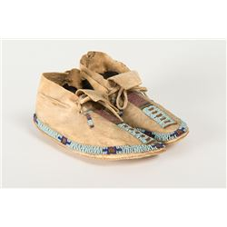 """Ute Beaded Child's Moccasins, 7 ¼"""" long"""