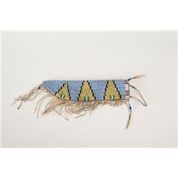 """Sioux Beaded Knife Case, 10 ½"""" long"""