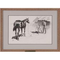 Dan Muller, charcoal drawing