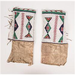 "Sioux Beaded Woman's Leggings, 15"" x 12"""