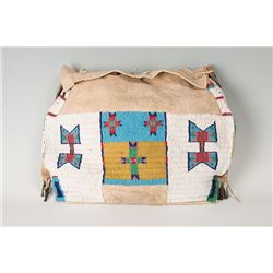 """Sioux Beaded Possible Bag, 14"""" tall x 18 ½"""" wide"""
