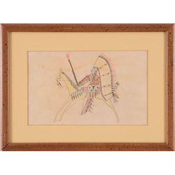 "Plains Ledger Drawing, 6 ½ x 10 ½"""