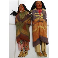 1920's Pair of Skookum Dolls