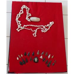 Large Frame of arrowheads and beads