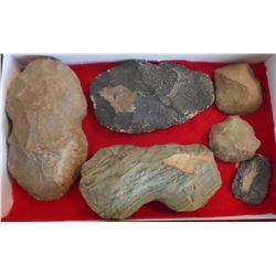 Box of Six Flint Artifacts