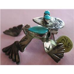 Sterling Silver and Turquoise Frog Pin