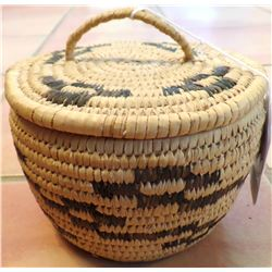 Lidded Papago Basket