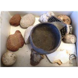 Box of 12 Anasazi artifacts