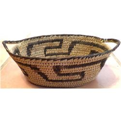 Oval Papago Basketry Bowl