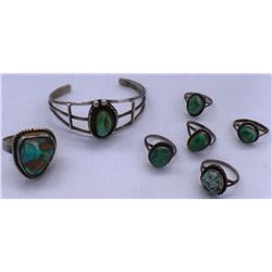 Collection of Miscellaneous Sterling Silver and Turquoise