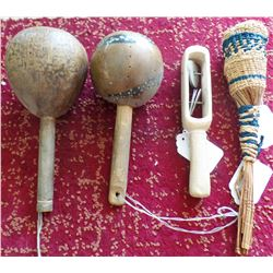 Four Native American Rattles