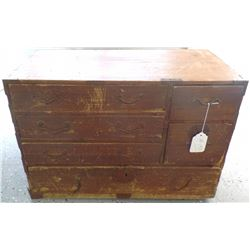 Antique Chinese Chest, with soap stone carving