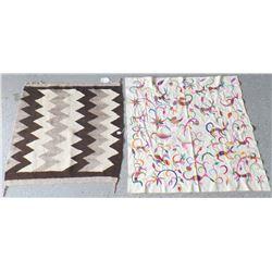 Navajo Saddle Blanket w/Guatemalan Textile