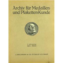 A Complete Set of the Archiv für Medaillen- und Plaketten-Kunde