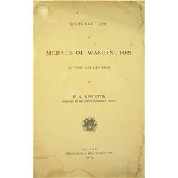 Appleton's Very Rare Work on Washington Medals