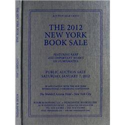 Hardcover Kolbe & Fanning 2012 NY Book Auction