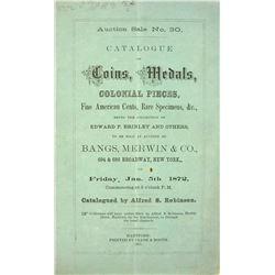 Rare 1872 Sale by Alfred S. Robinson