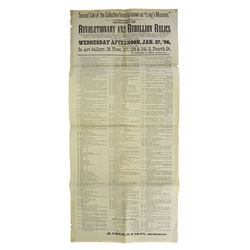 Tall 1886 Broadside with Numismatic Content