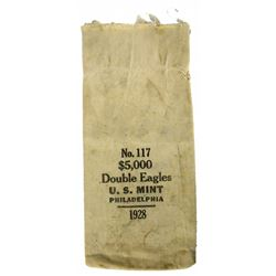 Philadelphia Mint Bag for 1928 Double Eagles
