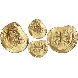 Mexico City, Mexico, cob 8 escudos, 1700L, encapsulated NGC AU 50, from the 1715 Fleet, extremely ra