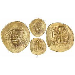 Mexico City, Mexico, cob 8 escudos, 1711J, encapsulated NGC XF 45, from the 1715 Fleet.