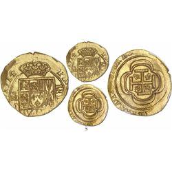 Mexico City, Mexico, cob 4 escudos, 1714J, from the 1715 Fleet, encapsulated NGC MS 64.