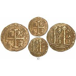Lima, Peru, cob 8 escudos, 1717M, ex-Loosdrecht (1719).
