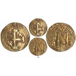 Lima, Peru, cob 8 escudos, 1724/3M, rare, Tauler Plate Coin.