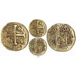 Lima, Peru, cob 8 escudos, 1739V, Tauler Plate Coin.